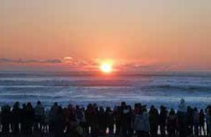 九十九里浜で【初日の出】