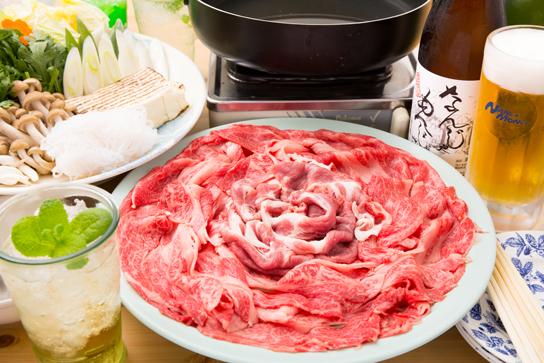 ブランド牛の贅沢「すき焼き」