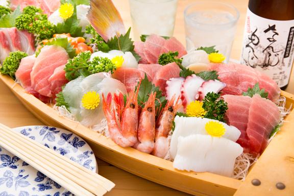 お刺身の舟盛りごはんセット(パークコテージ限定・部屋食)