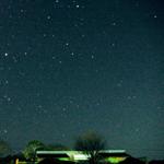冬の星空と流星群